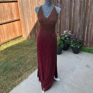 Vintage Beaded Scala 100% Silk Gown
